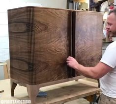 tambour furniture is mesmerizing. Design Furniture, Cheap Furniture, Wood Furniture, Studio Furniture, Furniture Movers, Furniture Removal, Furniture Stores, Wood Projects, Woodworking Projects