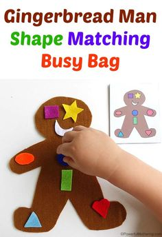 Gingerbread Man Shape Matching Activity for Preschool
