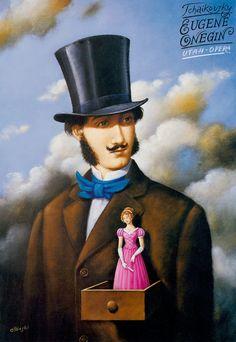 Eugene Onegin - Tchaikovsky - poster by Rafal Olbinski for the Utah Opera