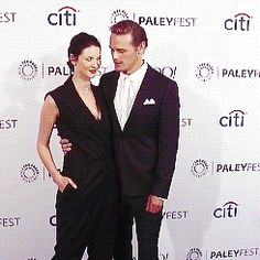 "lallybroch-lass: ""Sam and Cait » all smiles and buns """