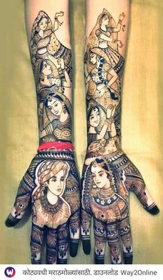 This traditional dulha dulhan mehndi motifs has been around for a very long time, and for all the correct reasons. It is traditional, loaded with wonderful designs and perplexing enough to give you a wedding mehndi sort of inclination! Rajasthani Mehndi Designs, Peacock Mehndi Designs, Latest Bridal Mehndi Designs, Mehndi Designs 2018, Stylish Mehndi Designs, Wedding Mehndi Designs, Dulhan Mehndi Designs, Beautiful Mehndi Design, Mehendi