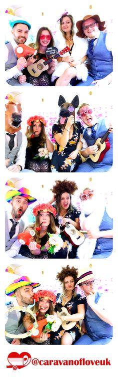 Wedding photobooth fun in the Caravan of Love vintage photobooth. Hochzeit photobooth Spaß in der Vi Caravan Home, Inside Plants, Solid Wood Flooring, Checkerboard Pattern, Vintage Caravans, Wedding Hire, Photo Booth Backdrop, Dark Shades, Unique Photo