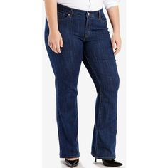 6aaf64845e6 Levi s Plus Size 415 Relaxed-Fit Bootcut Jeans ( 45) ❤ liked on Polyvore