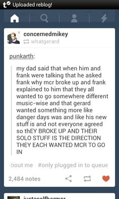 Here is some more MCR feels for you. Wait.... Maybe that's why Gerard's hair is still red..