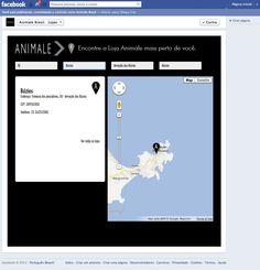 Aba - Lojas Animale - Mashup Google Maps - Visão de uma loja.