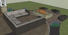Dayton Patios Design for our backyard