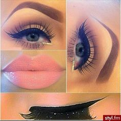 How to Apply Eyeliner Tips and Ideas ❤ liked on Polyvore featuring beauty products, makeup, eye makeup, eyeliner, eyes, lips en beauty