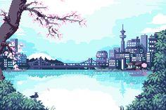 Imagem de aesthetic, anime, and gif Aesthetic Gif, Aesthetic Wallpapers, Arte 8 Bits, Pixel Art Background, Anime Pixel Art, Pixel Animation, 8bit Art, Pixel Art Games, Anime Scenery
