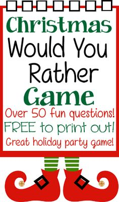 Christmas Would You Rather Game Questions
