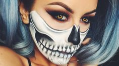 Halloween Skull Makeup - Chrisspy Best Video.. Sexy look for halloween