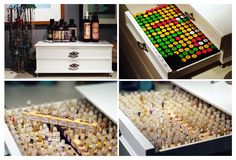 Beautiful perfume storage! WANT.