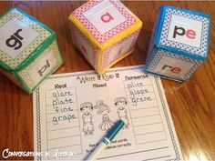 Ways to Use Differentiation Cubes in literacy centers!