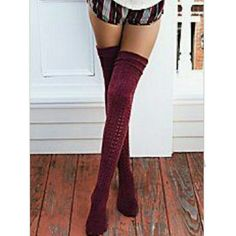 🆕BURGUNDY OVER THE KNEE SOCKS BURGUNDY COLOR OVER THE KNEE SOCKS TRIMMED IN  CREAM  CROCHET TOPS.(PICS #1,4&5) ARE FOR STYLE IDEAS. SO CUTE FOR ALL SKIRTS & DRESSES. EVEN  OVER SKINNIES & YOGA PANTS. LOVE  LAYERS,  MIX N MATCH FOR DIFFERENT  LOOKS. (SHIPS BNWOT ) BOTIQUE Accessories Hosiery & Socks