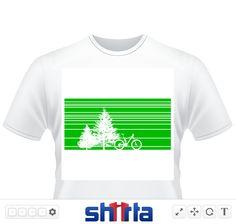 Silhouette eines Mountainbikes unter Bäumen
