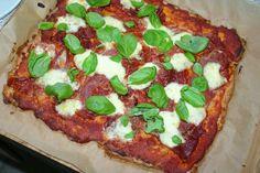 LCHF-Pizza med serranoskinke og mozzarella  5