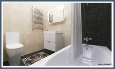 Пример создания аккуратной ванной комнаты на маленькой площади. Размер помещения 3,5 кв.м. используемая плитка Kerama Marazzi индийской коллекции Кашмир. Мебель, раковина и зеркало из Икеа. Душевой набор и смеситель производства Grohe. Дизайн проект ванной комнаты в новостройке в городе Балашиха. #интерьердизайна #интерьер #дизайн #3dmax #vray #interiordesign #interior #design #дизайнинтерьера #дизайнквартиры #дизайнпроект #ванна #bathroom #keramamarazzi #home
