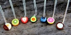 Most popular tags for this image include: fruit, necklace, jewelry and cute Bff Necklaces, Best Friend Necklaces, Friendship Necklaces, Cute Necklace, Friend Jewelry, Crea Fimo, Polymer Clay Kawaii, Polymer Clay Charms, Polymer Clay Jewelry
