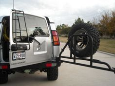 Rovertyme rear bumper with swing away tire mount discovery 2