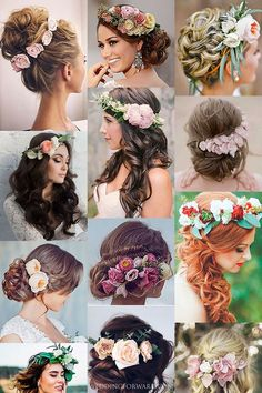 30 Gorgeous Blooming Wedding Hair Bouquets ❤ See our gallery of blooming wedding hair and be inspired! See more: http://www.weddingforward.com/blooming-wedding-hair-bouquets/ #weddings #hairstyles