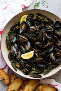 Steamed Mussels with Garlic and Parsley just might be the easiest thing you can ever make! They are super versatile and take very little ingredients to make.
