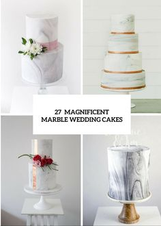 27 Chic And Luxurious Marble Wedding ceremony Cakes - http://www.2016hairstyleideas.com/wedding/27-chic-and-luxurious-marble-wedding-ceremony-cakes.html
