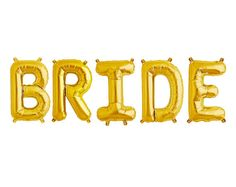 ABOUT_______________________________________________________________________  BRIDE letter comes with 5 balloons (B-R-I-D-E). Balloons are