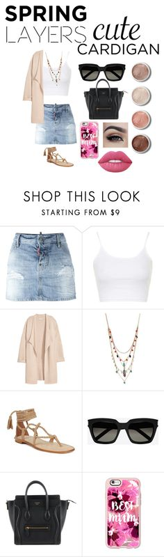 """""""Untitled #930"""" by andreina-152 ❤ liked on Polyvore featuring Dsquared2, Topshop, Kofta, Betsey Johnson, Yves Saint Laurent, Casetify, Lime Crime, Terre Mère, cutecardigan and springlayers"""