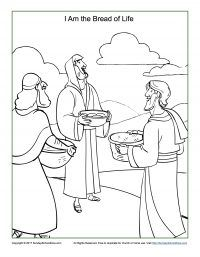 Bread Of Life Coloring Page Bible Activities Sunday School