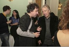 Alan Rickman and Tim Burton
