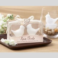 Whether your wedding has a lovebird theme, or you want to send the guests of your bridal shower home with a reflection of romance, Little White Bird Candles in Gift Box can add love-inspired elegance at your event as well as at the homes of your family and friends. - See more at: http://www.topweddings.com/little-white-bird-candles-in-gift-box.html#sthash.2gbqf2iY.dpuf