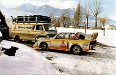 Audi Sport Quattro S1 E2 and transporter