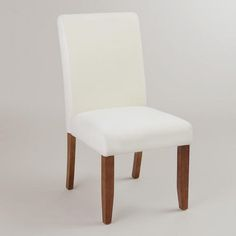 One of my favorite discoveries at WorldMarket.com: Anna Slipcover Chairs, Set of 2. Can add different covers