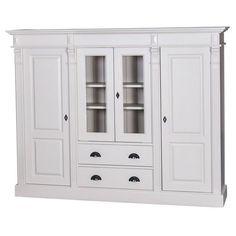 Landhausmöbel kaufen und gestalten, günstig zum besten Preis! Der schöne Schrank im Landhausstil, macht sich hervorragend als Vitrinenschrank im Wohnzimmer,