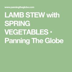 LAMB STEW with SPRING VEGETABLES • Panning The Globe