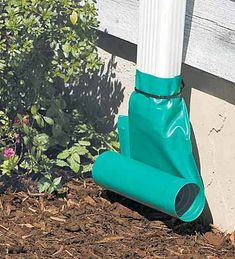 Rain Drain extends your gutter's downspout to divert rainwater away from your foundation.
