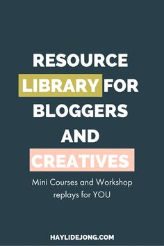Get access to ALL of my FREE workshops and mini courses with just a few clicks.