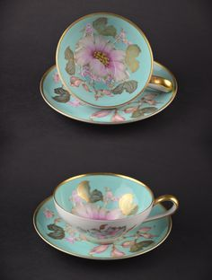 VISIT US!  http://stores.ebay.com/Forest-Metrics/Tea-Sets-/_i.html?_fsub=2996174011&_sc=1&_sid=81917591&_sop=10&_trksid=p4634.c0.m322  Bavaria Cup and Saucer Rosenthal Hand-Painted Wild Rose Peony KPM Fine China Made in Germany  #Bavaria #cupandsaucer #finechina