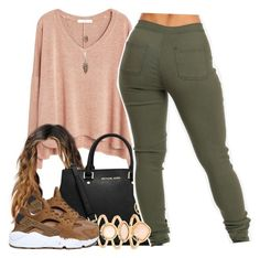 """11/23/15"" by clickk-mee ❤ liked on Polyvore featuring MANGO, MICHAEL Michael Kors, Monsoon and NIKE"