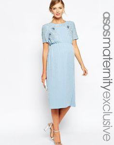 ASOS Maternity Embellished Midi Dress