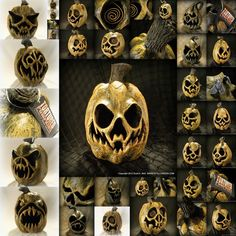 lots of scary looking Halloween decoration tutorials Halloween Horror, Holidays Halloween, Scary Halloween, Halloween Treats, Halloween Pumpkins, Happy Halloween, Halloween Stuff, Halloween 2016, Vintage Halloween