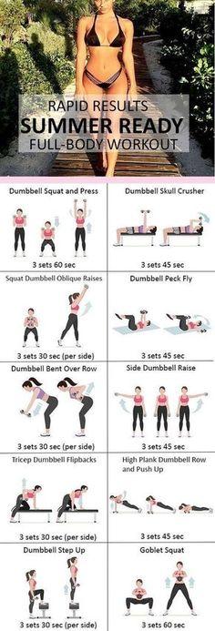 Women's  #Fitness #Workout - Summer Ready Full Body Workout