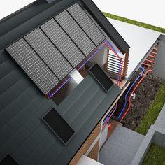 3d model residential heat pump