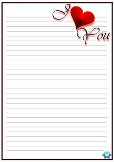 """I Love you, I just wanna say I love you"" Printable Lined Paper, Free Printable Stationery, Journal Paper, Journal Cards, Writing Paper, Letter Writing, Notebook Paper, Paper Frames, Stationery Paper"