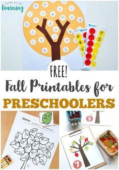 Free fall printables for preschoolers. From working on colors to counting and ABC's there are so many great ideas for preschool teachers to use this fall! Fall Preschool Activities, Preschool Teachers, Kindergarten, Free Preschool, Preschool Printables, Fall Arts And Crafts, Tot School, Kids Education, Childhood Education