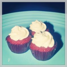 Cukay's mini Red Velvet cupcakes.