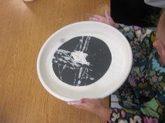 spiderweb marble painting from Teach Preschool