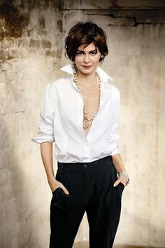 ☆ Audrey Tautou | Photography by Max Vadukul | For Elle Magazine Belgium | April…