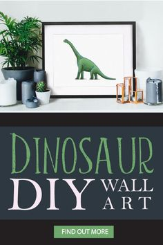 Print it yourself dinosaur art. Choose from a triceratops, tyrannosaurus rex, stegosaurus, or brachiosaurus. Mix and match your favorites! Also available in simple black and white versions.