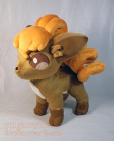 Pokemon: Vulpix Plush Version 2 by sugarstitch on deviantART