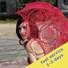 Verkauf 10 Dollar aus, häkeln Sonnenschirm, rose rot Regenschirm, Viktorianisch, für die moderne Frau oder junge sexy Mädchen, Hochzeit Sonnenschirm bereit, Schiff